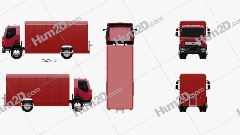 Peterbilt 210 Box Truck 2008 clipart