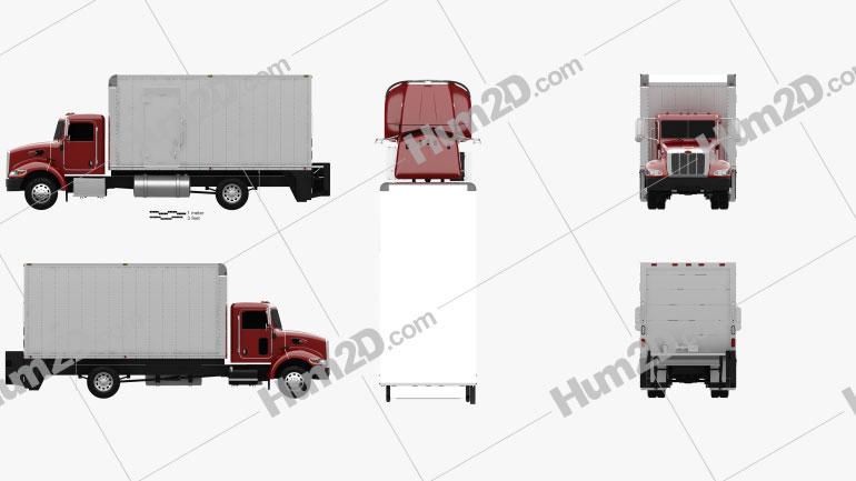 Peterbilt 325 Box Truck 2007 clipart