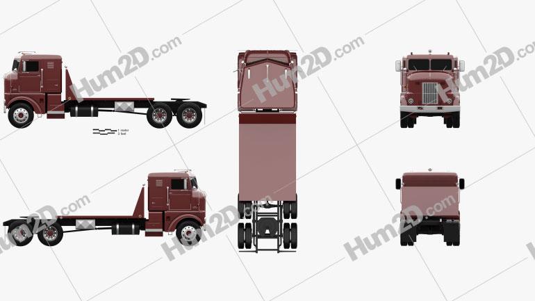 Peterbilt 350 Tractor Truck 1949 clipart