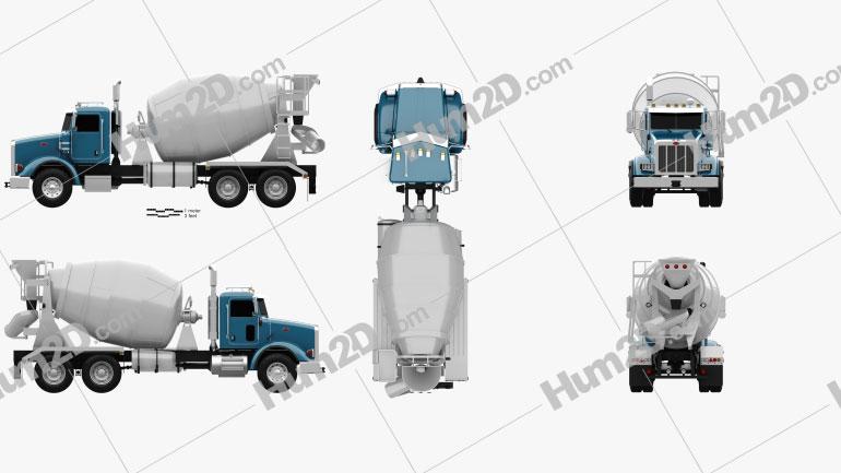 Peterbilt 365 Mixer Truck 2007 Clipart Image
