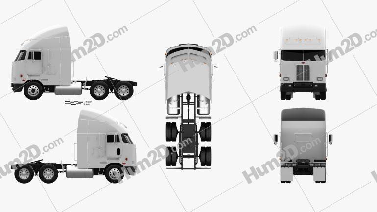 Peterbilt 372 Tractor Truck 1988 clipart