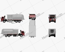 Peterbilt 320 Garbage Truck 2008 clipart