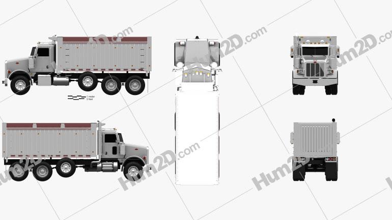 Peterbilt 367 Dump Truck 2007 clipart