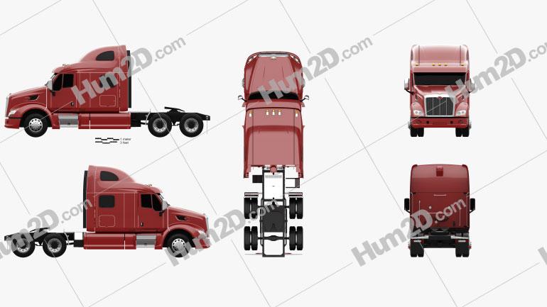 Peterbilt 587 Tractor Truck 2010 clipart