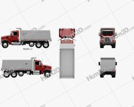 Peterbilt 567 SFFA Tipper Truck 4-axle 2015