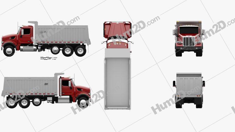 Peterbilt 567 SFFA Tipper Truck 4-axle 2015 clipart