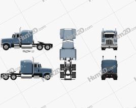 Peterbilt 377 Sleeper Cab Tractor Truck 1999