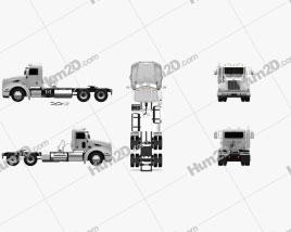 Peterbilt 384 Day Cab Tractor Truck 2014