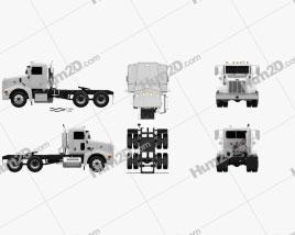 Peterbilt 385 Day Cab Tractor Truck 2007