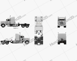 Peterbilt 388 Sleeper Cab Tractor Truck 2013