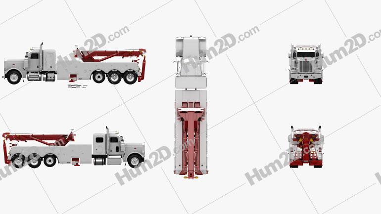Peterbilt 388 Wrecker Truck 2014 clipart