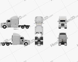 Peterbilt 386 Sleeper Cab Tractor Truck 2010