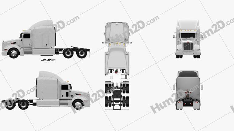 Peterbilt 386 Sleeper Cab Tractor Truck 2010 clipart