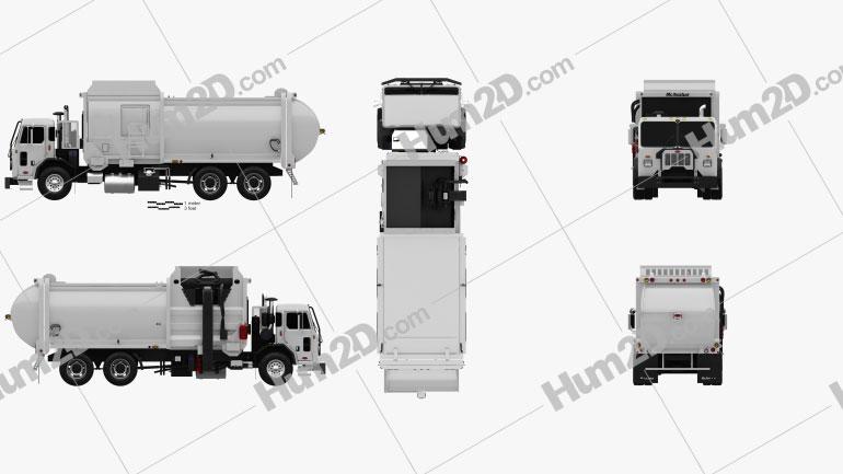Peterbilt 520 Garbage Truck McNeilus 2016 clipart