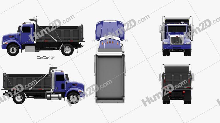 Peterbilt 340 Dump Truck 2009 clipart