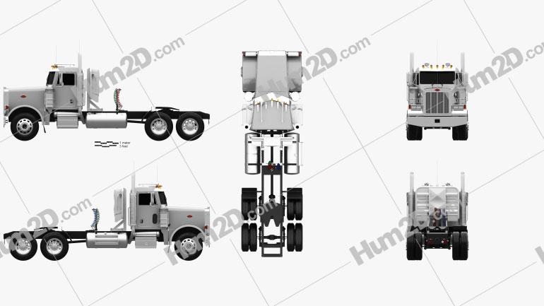 Peterbilt 378 Tractor Truck 2006 clipart