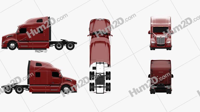 Peterbilt 579 Sleeper Cab Tractor Truck 2021 clipart
