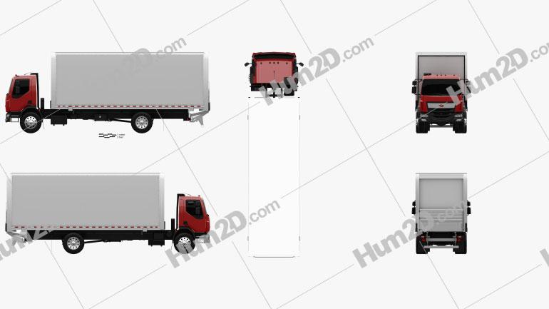 Peterbilt 220 Box Truck 2014 clipart