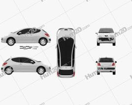 Peugeot 207 2006 car clipart