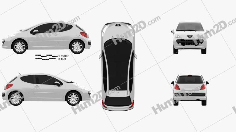 Peugeot 207 2006 Clipart Image