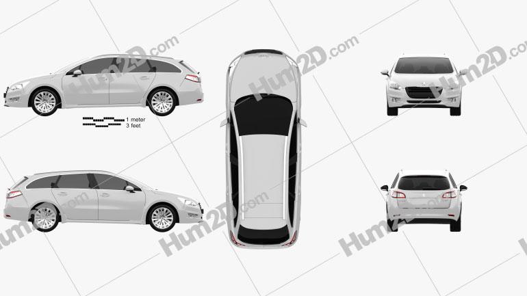 Peugeot 508 SW 2011 car clipart