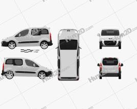 Peugeot Partner Tepee 2011 Clipart
