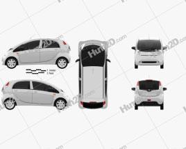 Peugeot iOn 2011 car clipart