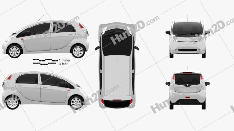 Peugeot iOn 2011 Clipart Image