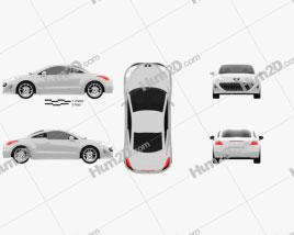 Peugeot 308 RCZ 2011 car clipart