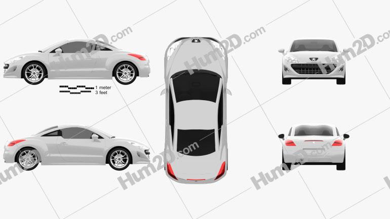 Peugeot 308 RCZ 2011 Clipart Image