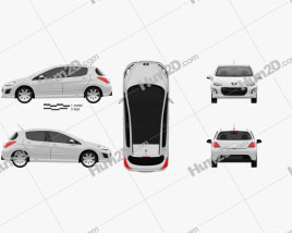 Peugeot 308 2012 car clipart