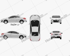 Peugeot 308 CC 2012 car clipart