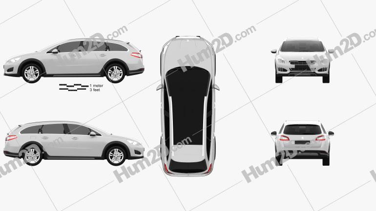 Peugeot 508 RXH 2013 car clipart