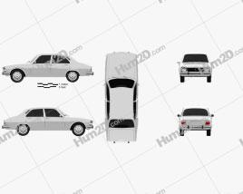 Peugeot 504 Sedan 1970 car clipart