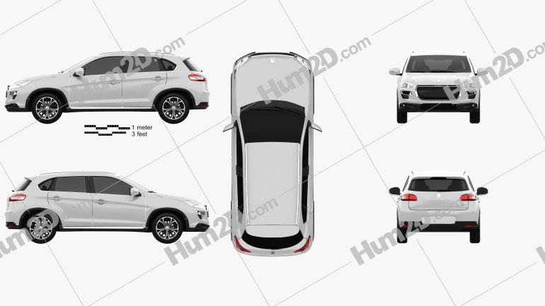 Peugeot 4008 2012 Clipart Image