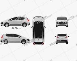Peugeot 3008 Hybrid 2012 clipart