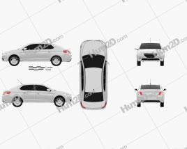 Peugeot 301 2013 car clipart