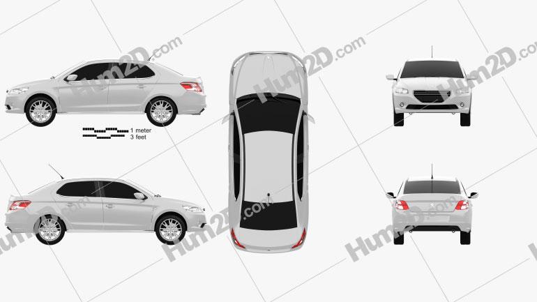 Peugeot 301 2013 Clipart Bild