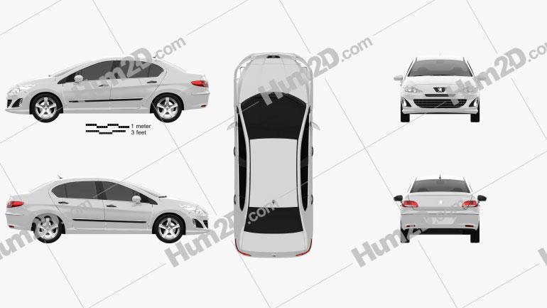 Peugeot 408 2012 car clipart