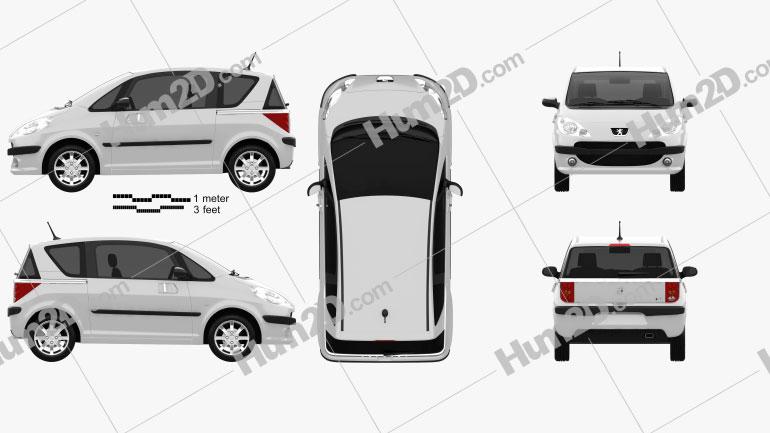 Peugeot 1007 2008 car clipart