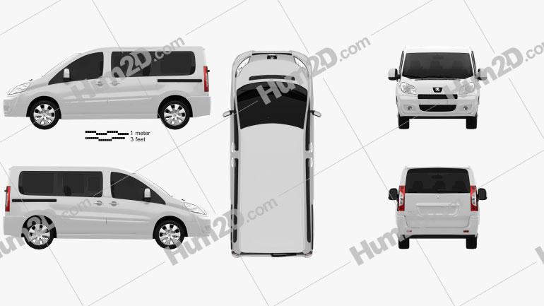 Peugeot Expert II combi L1H1 2011 clipart