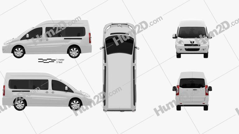Peugeot Expert II Combi L2H2 2011 clipart