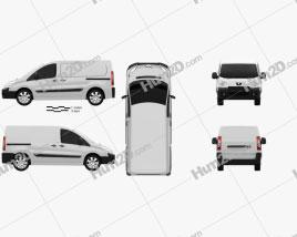 Peugeot Expert II Panel Van L1H1 2011 clipart