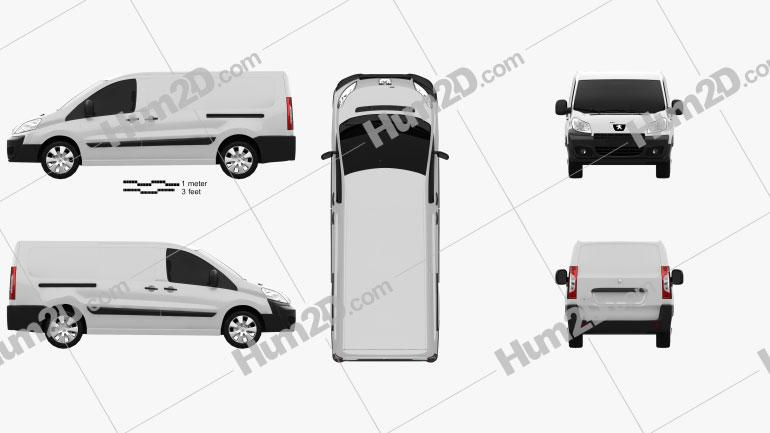 Peugeot Expert II Panel Van L2H1 2011 clipart