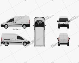 Peugeot Expert II Panel Van L2H2 2011 Clipart