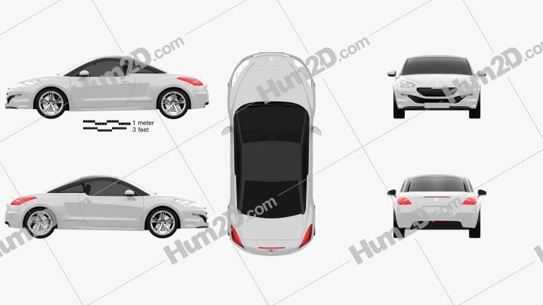 Peugeot RCZ coupe 2013 car clipart