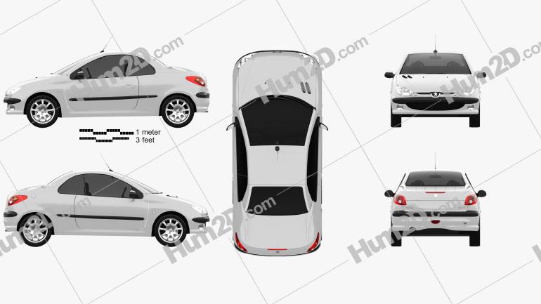 Peugeot 206 CC 2005 car clipart