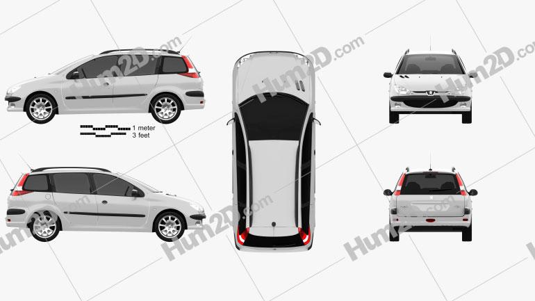 Peugeot 206 SW 2005 car clipart