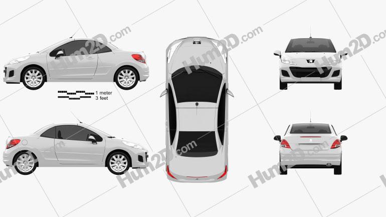 Peugeot 207 CC 2012 car clipart