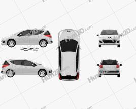 Peugeot 207 SW 2012 car clipart